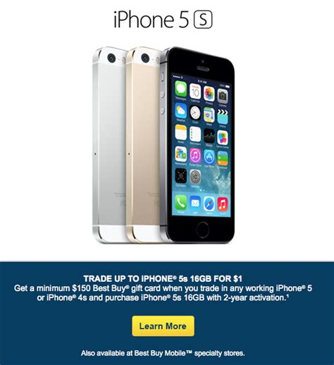 best buy offering free 16gb iphone 5s with trade in of
