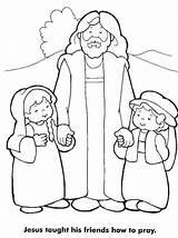 Jesus Coloring Friends Pray Taught Loves Bible Friend Children Printables Teaches Sheets Disciples Church Para Teach Crafts Colorir Popular Colorluna sketch template