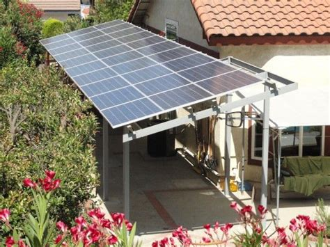 using solar panels to create a shade structure next to the