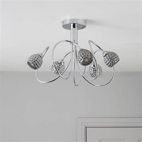 karyn swirly chrome effect 5 l ceiling light