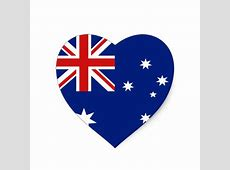 Australia Flag Heart Sticker Zazzle