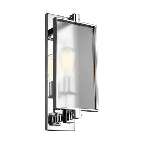 eurofase collection 1 light chrome wall sconce 13726