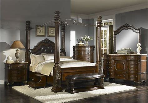 rooms to go king bedroom sets shop for a southton 6 pc canopy king bedroom at rooms