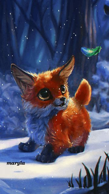 Animated Fox Wallpaper - free animated fox mobile wallpaper by maryla75 on