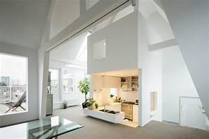 Studio Apartment Amsterdam : unique modern attic duplex apartment in amsterdam with clean design idesignarch interior ~ Sanjose-hotels-ca.com Haus und Dekorationen