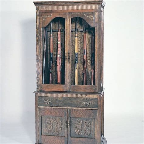 Bookcase With Gun Cabinet by Woodworking Project Paper Plan To Build Gun Cabinet