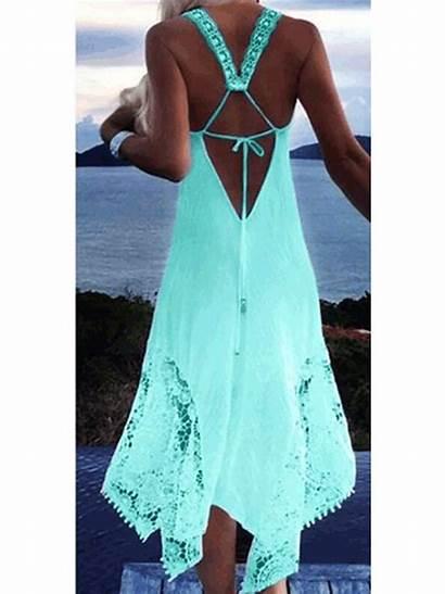 Dresses Neck Line Daytime Plain Lace Stylewe