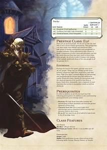 Dnd 5e Homebrew  U2014 Elf Prestige Class By Coolgamertagbro