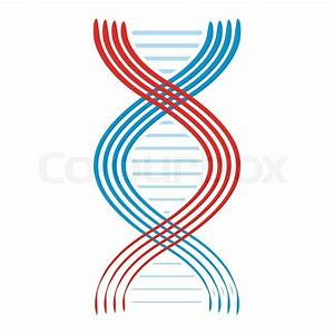Flat Dna And Molecule Icon Isolated On White Background