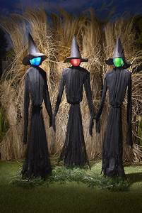 Light-up, Witches, Halloween, Yard, Decorations, With, Led, Lights, -, Set, Of, 3