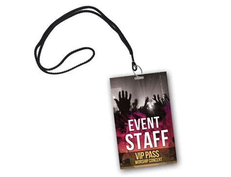 Staff Badge Template by Badge Psd Template Vip Pass