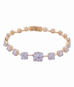 Affinity Gold American Diamond Designer Bracelet: Buy ...