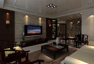 Tv on wall in living room download d house
