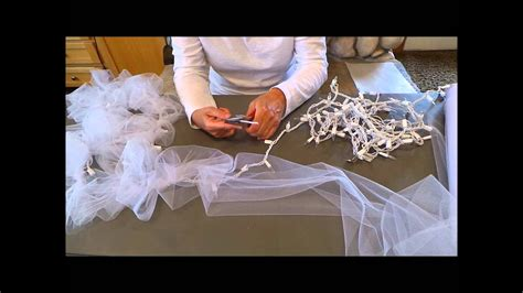 diy light tulle garland youtube