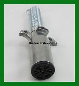 Semi Trailer Truck Light Connector Socket 7 Way Round Split Pin Plug
