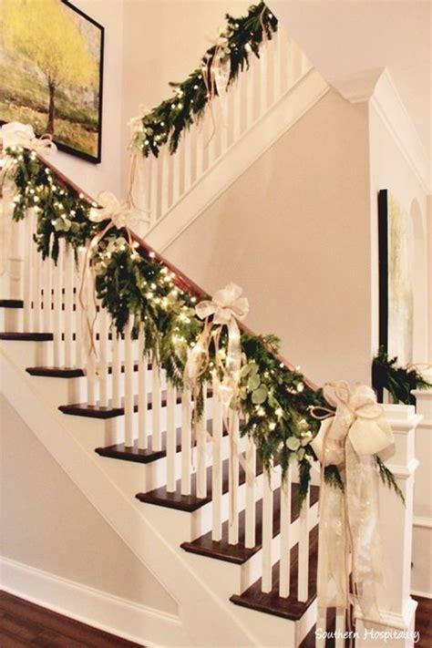 christmas staircase decor ideas  pinterest