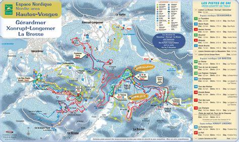 chambres hotes gerardmer plans des pistes de ski de fond