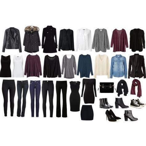"""33item Minimalist Winter Capsule Wardrobe"" By Angela"