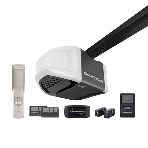 chamberlain garage door opener myq chamberlain 1 hps belt drive garage door opener with myq