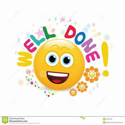 Done Well Clipart Nicely Emoticon Cheerful Letters
