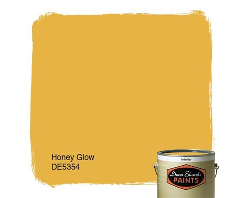 dunn edwards paints yellow paint color honey glow de5354