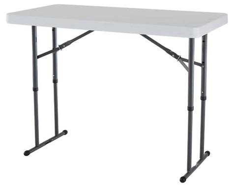 folding table with adjustable legs white folding tables style and design