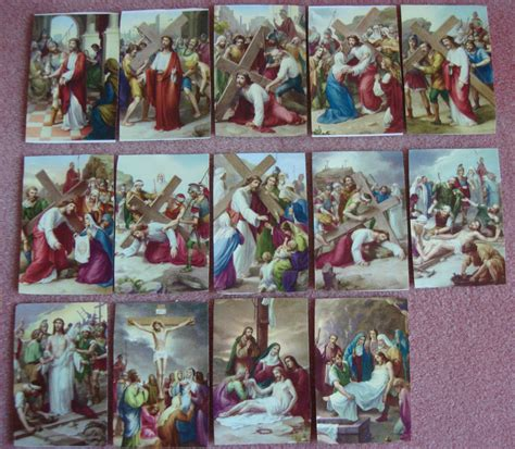 14 Station Way of the CrossVia Crucis Hand made eBay