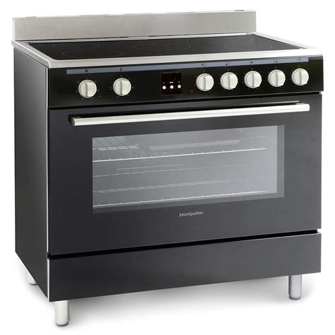 cooker range montpellier 90cm ceramic electric oven hob single cooking wide appliances cavity zone