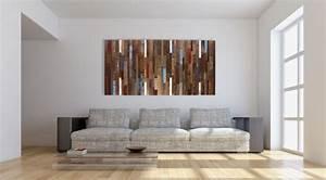 Wanddeko Ideen Wohnzimmer : 40 verbl ffende ideen f r wanddeko aus holz ~ Markanthonyermac.com Haus und Dekorationen
