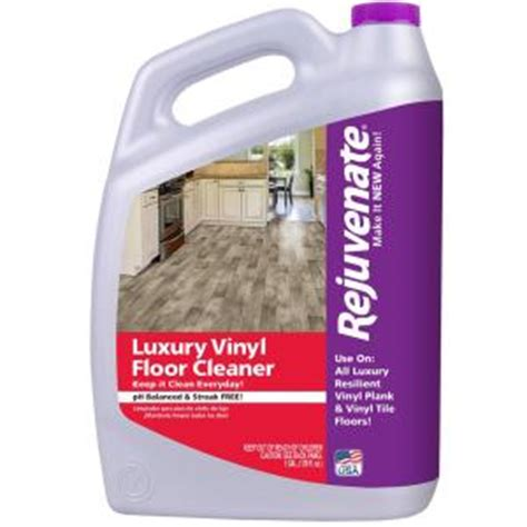rejuvenate 128 oz luxury vinyl floor cleaner rj128lvfc the home depot - Cleaning Vinyl Plank Flooring