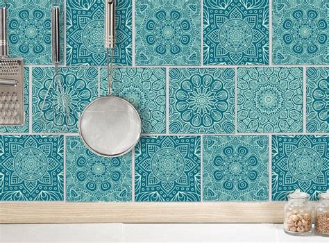Badezimmer Fliesen Petrol by Mandala Tile Sticker Tile Decals Mint Green Petrol 12 Pcs