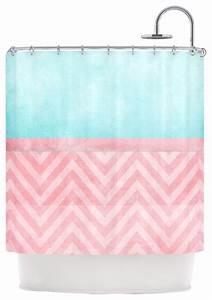 Ingrid beddoes quotlight chevron pink turquoisequot blush aqua for Turquoise and pink bathroom