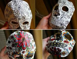 Faschingsmasken Selber Machen : faschingsmasken basteln sugar skull wohnideen ~ Eleganceandgraceweddings.com Haus und Dekorationen