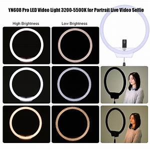 Portable Makeup Light Yongnuo Yn608 Led 3200 5500k Bicolor Ring Light With