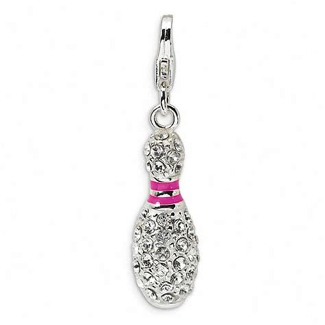 Amore La Vita Pink And White Bowling Pin Charm With