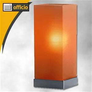 Tischleuchte Dimmbar Touch : hansa tischleuchte touch me dimmbar h 25cm satiniertes glas orange 5010 075 b robedarf ~ Markanthonyermac.com Haus und Dekorationen