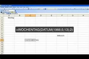 Excel Wochentag Berechnen : video mit excel den wochentag berechnen ~ Themetempest.com Abrechnung