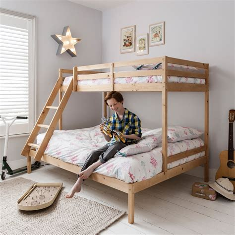 Kent Triple Bunk Bed In Natural  Noa & Nani