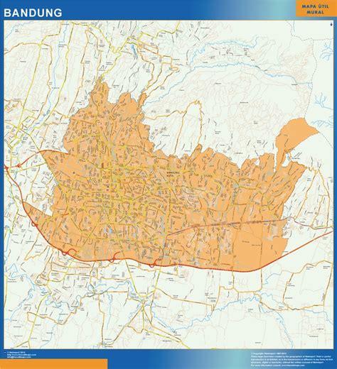 find  enjoy  bandung indonesia wall map