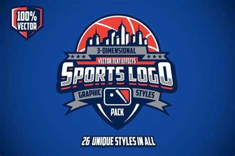 check   sports logo graphic styles pack  vectricity