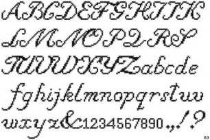 Cross Stitch Alphabet Cursive Fonts