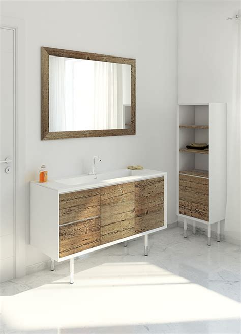 weathered wood  bathroom vanities stunningly beautiful