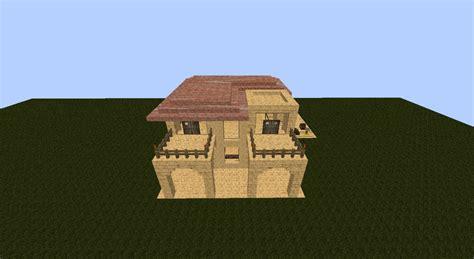 modern sandstone house minecraft map