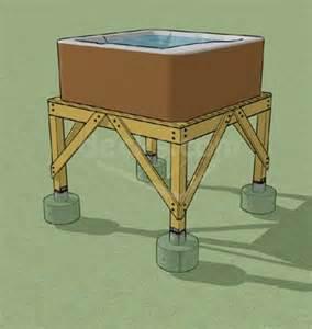 decks tub deck design and framing platform