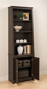 Tall, Slant, Back, Bookcase, W, Doors, By, Prepac