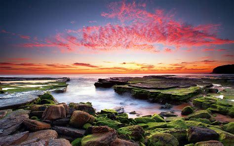 sunset coastal hd desktop wallpapers  hd