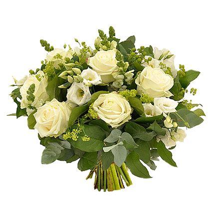 Ziedu piegāde | Vasaras ziedu pušķis baltos toņos