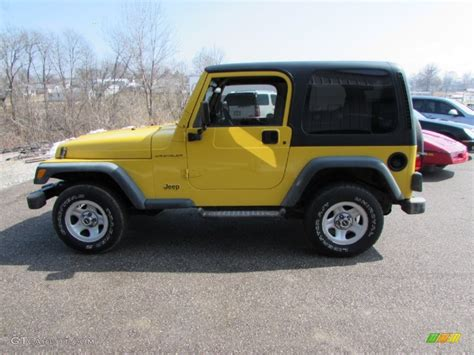 yellow jeep interior 2000 solar yellow jeep wrangler se 4x4 102110625