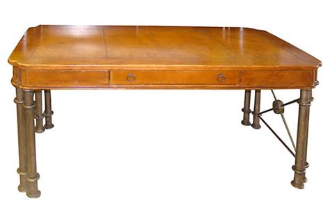 maitland smith desk maitland smith style desk with iron and leather modernism