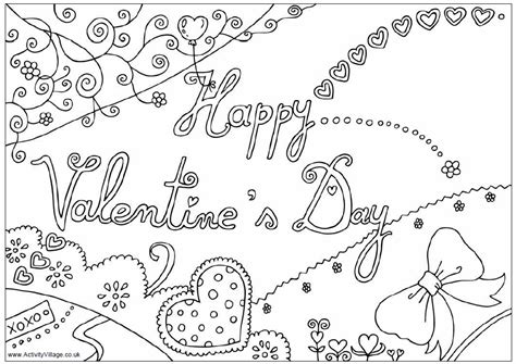 Happy Valentines Day Coloring Pages Getcoloringpagescom
